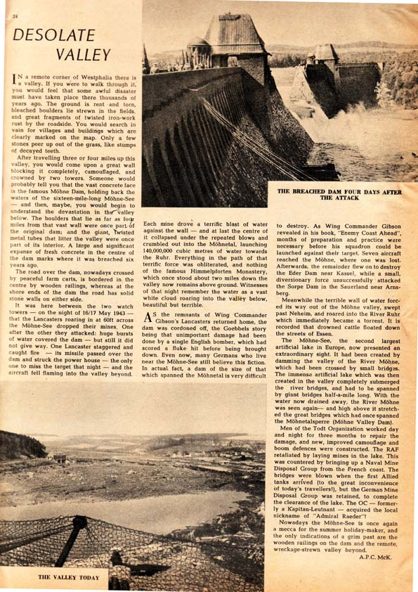 Article on Moehne Dam